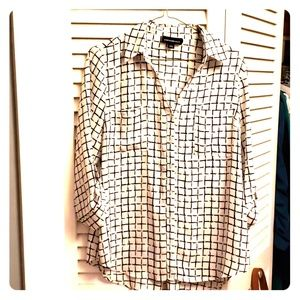 Fortune +Ivy checked blouse